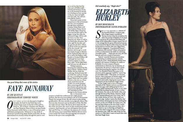 Article Preview: Elizabeth Hurley, August 1995 | Esquire