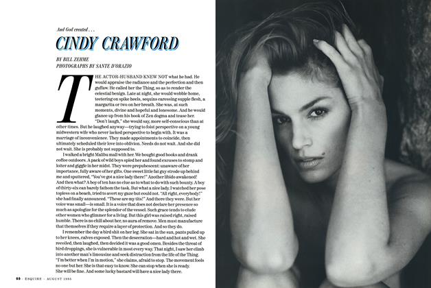 Article Preview: Cindy Crawford, August 1995 | Esquire