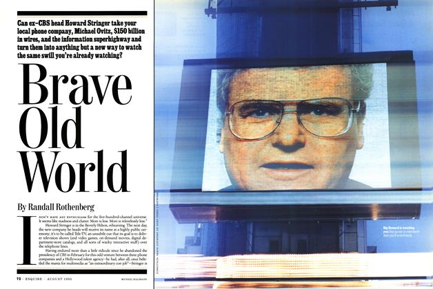 Article Preview: Brave Old World, AUGUST 1995 1995 | Esquire