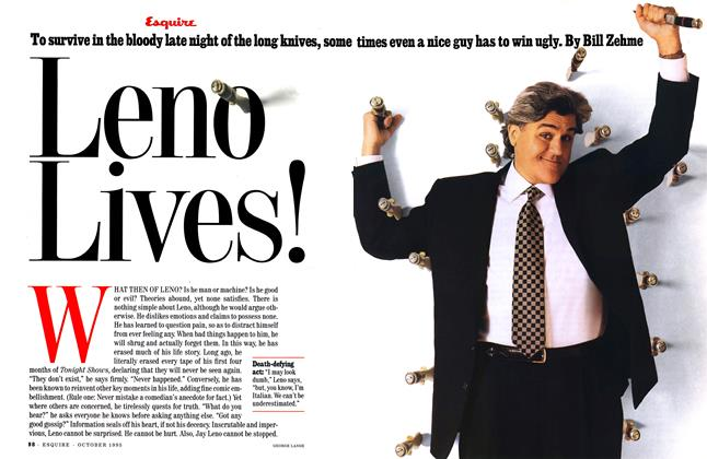 Article Preview: Leno Lives!, OCTOBER 1995 1995 | Esquire