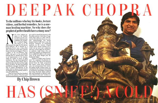 Article Preview: Deepak Chopra Has (Sniff!) a Cold, October 1995 | Esquire