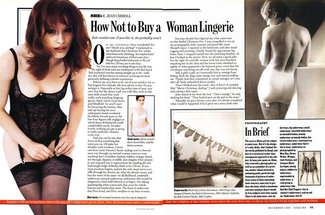 How Not to Buy a Woman Lingerie