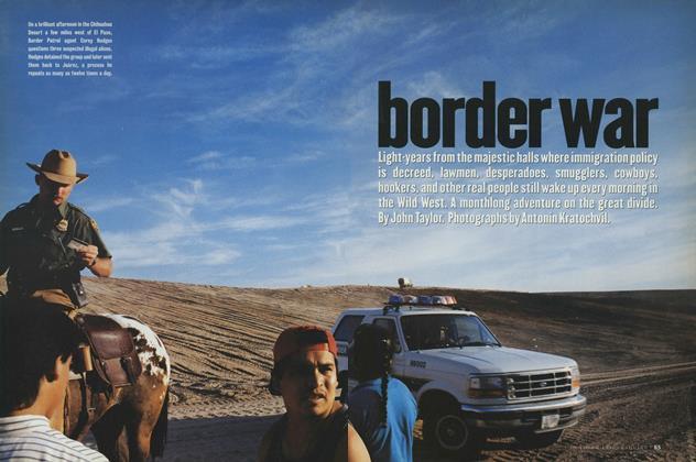 Article Preview: Border War, October 1996   Esquire