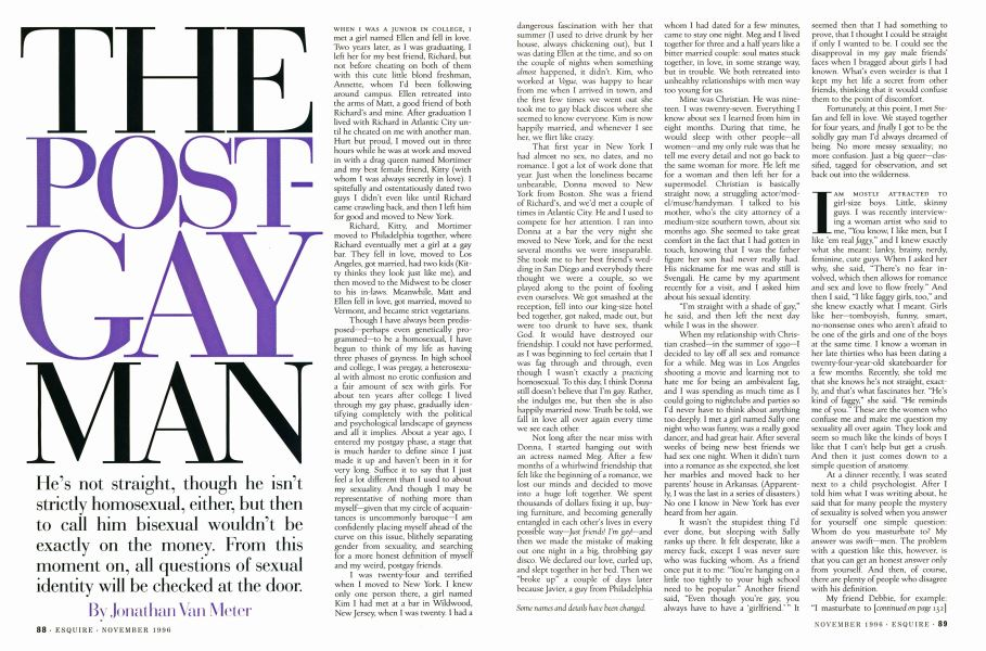 The Post-Gay Man | Esquire | NOVEMBER 1996