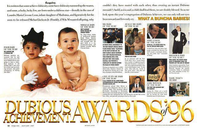 Dubious Achievement Awards of '96