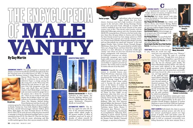 The Encyclopedia of Male Vanity