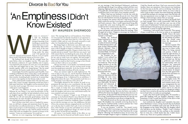 Article Preview: 'An Emptiness I Didn't Know Existed', MAY 1997 1997   Esquire