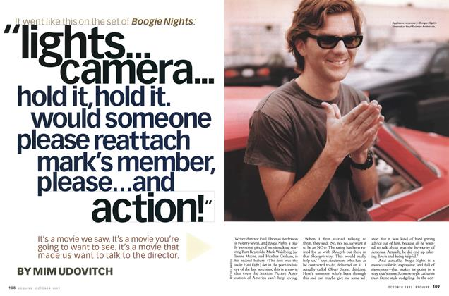 "Article Preview: ""Lights . . . Camera . . . Hold It, Hold It. Would Someone Please Reattach Mark's Member, Please . . . and Action!"", October 1997 