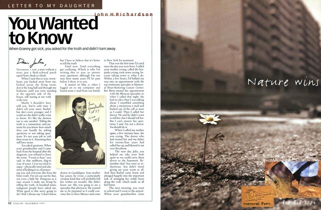Article Preview: You Wanted to Know, November 1997 | Esquire