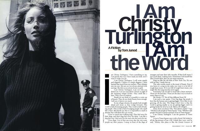 I Am Christy Turlington. I Am the Word