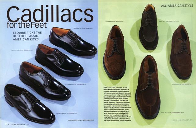 Article Preview: Cadillacs for the Feet, November 1997 | Esquire