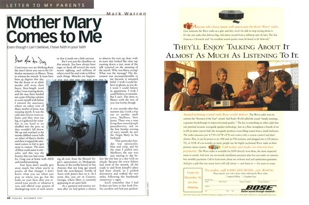 Article Preview: Mother Mary Comes to Me, December 1997 | Esquire