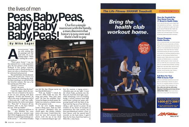 Article Preview: Peas, Baby, Peas, Baby Baby Baby, Peas!, JANUARY 1998 1998 | Esquire