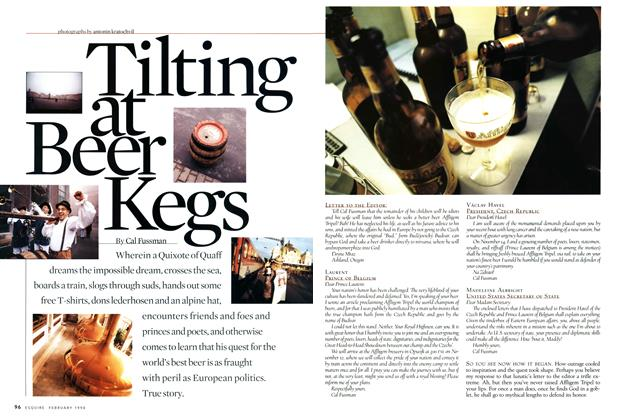 Article Preview: Tilting at Beer Kegs, FEBRUARY 1998 1998 | Esquire