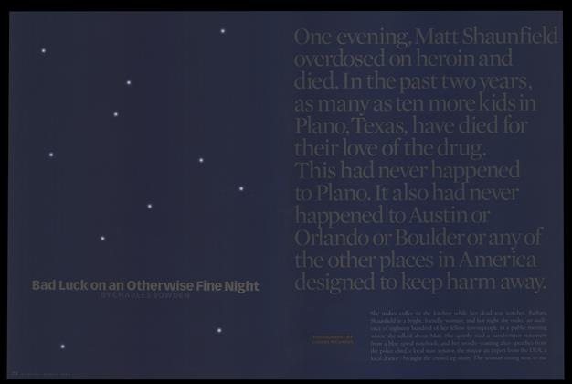 Article Preview: Bad Luck on an Otherwise Fine Night, March 1998 | Esquire