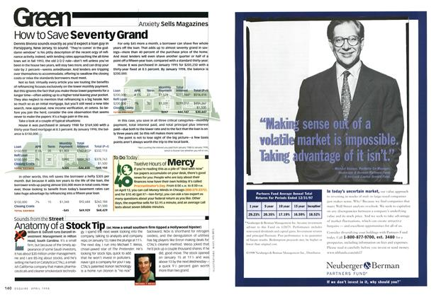 Article Preview: How to Save Seventy Grand, APRIL 1998 1998 | Esquire