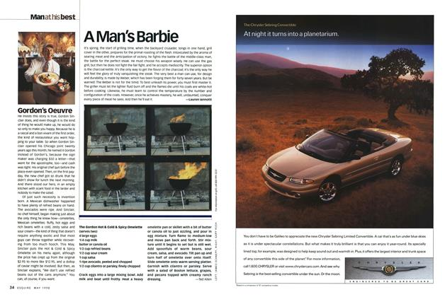 Article Preview: Gordon's Oeuvre, MAY 1998 1998 | Esquire