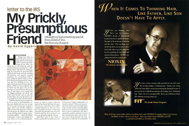 Article Preview: My Prickly, Presumptuous Friend, MAY 1998 1998 | Esquire
