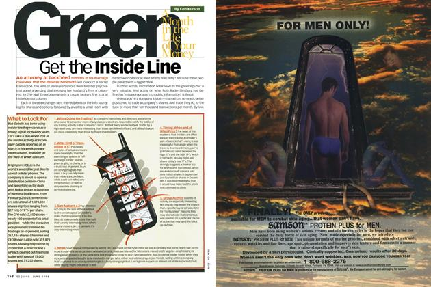 Article Preview: Get the Inside Line, JUNE 1998 1998 | Esquire