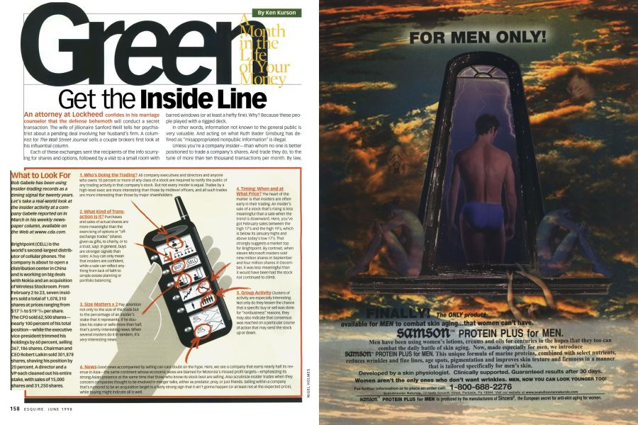 Get the Inside Line | Esquire | JUNE 1998