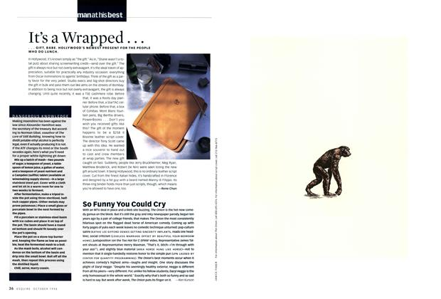 Article Preview: So Funny You Could Cry, OCTOBER 1998 1998 | Esquire