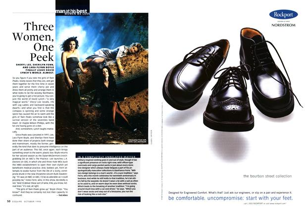 Article Preview: Three Women, One Peek, OCTOBER 1998 1998   Esquire