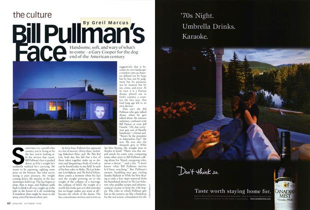 Article Preview: Bill Pullman's Face, October 1998 | Esquire