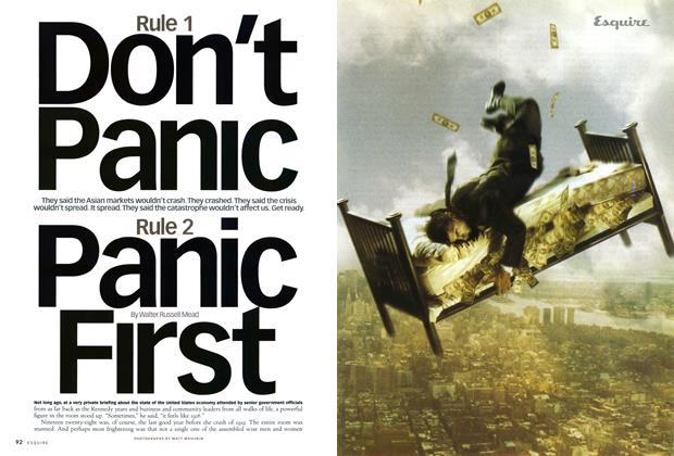 Article Preview: Rule 1: Don't Panic. Rule 2: Panic First., OCTOBER 1998 1998 | Esquire