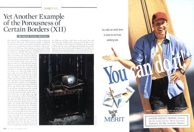 Article Preview: Yet Another Example of the Porousness of Certain Borders (xii), NOVEMBER 1998 1998 | Esquire