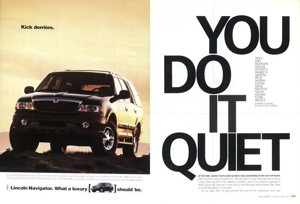 Article Preview: You Do It Quiet, November 1998 | Esquire