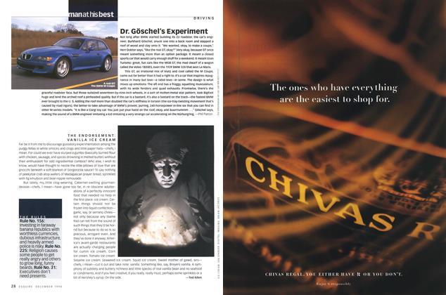 Article Preview: The Endorsement: Vanilla Ice Cream, DECEMBER 1998 1998 | Esquire