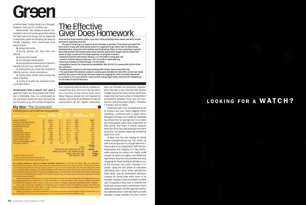 Article Preview: The Effective Giver Does Homework, DECEMBER 1998 1998 | Esquire