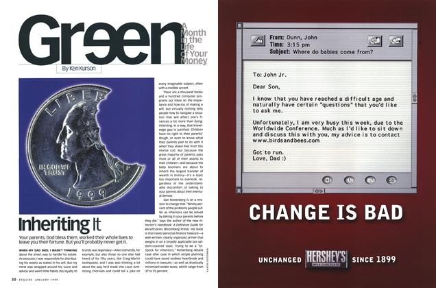 Article Preview: Inheriting It, JANUARY 1999 1999 | Esquire