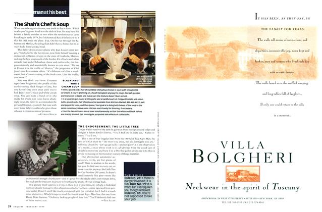 Article Preview: The Shah's Chef's Soup, FEBRUARY 1999 1999 | Esquire