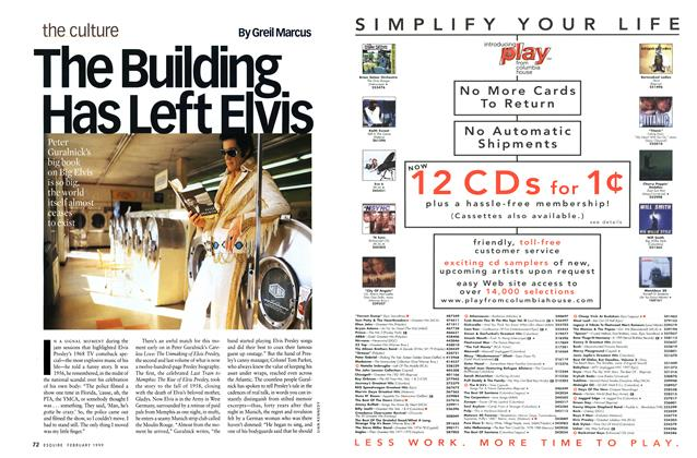 Article Preview: The Building Has Left Elvis, February 1999 | Esquire