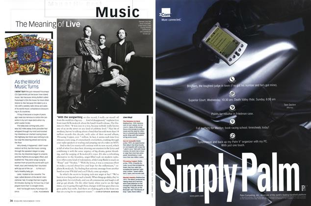Article Preview: As the World Music Turns, NOVEMBER 1999 1999 | Esquire