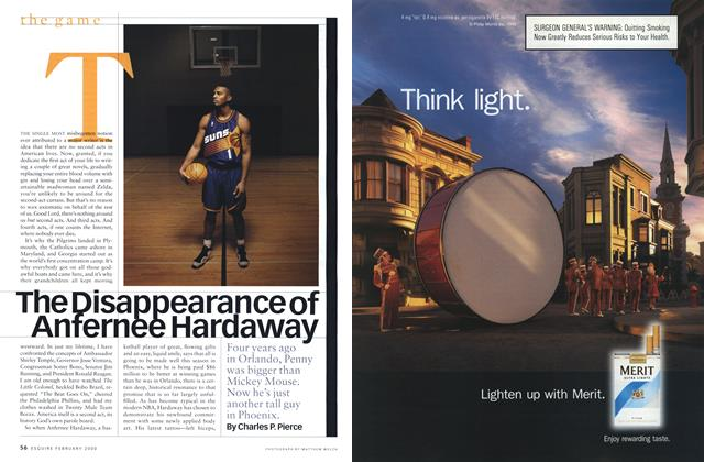Article Preview: The Disappearance of Anfernee Hardaway, FEBRUARY 2000 2000 | Esquire