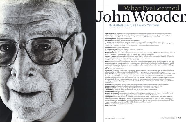 Article Preview: John Wooden, February 2000 | Esquire