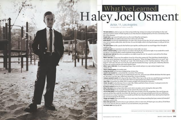 Article Preview: Haley Joel Osment, March 2000 | Esquire