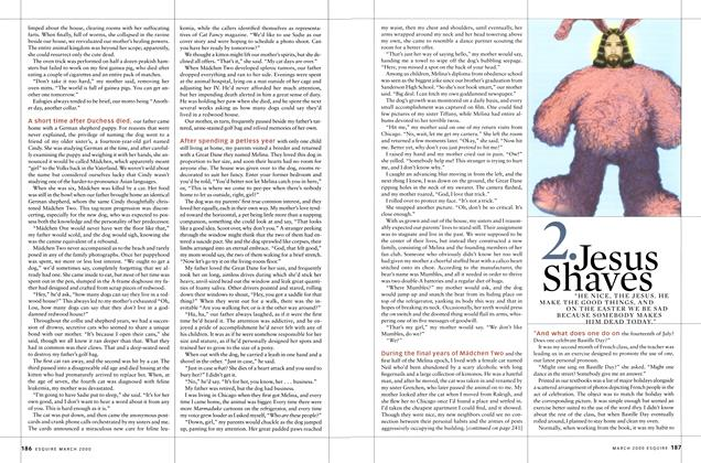 Article Preview: Jesus Shaves, MARCH 2000 2000 | Esquire