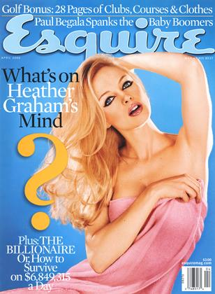 Cover for the April 2000 issue