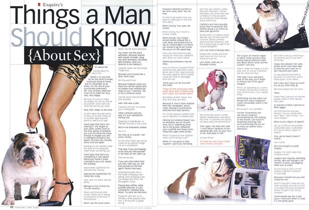 Things a Man Should Know (About Sex)