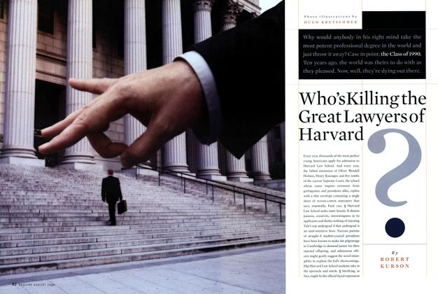 Article Preview: Who's Killing the Great Lawyers of Harvard?, August 2000 | Esquire