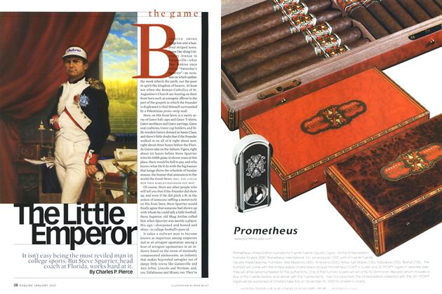 Article Preview: The Little Emperor, January 2001 | Esquire