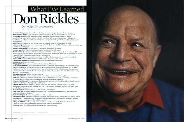 Article Preview: Don Rickles, JANUARY 2001 2001   Esquire
