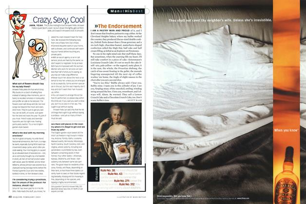 Article Preview: The Endorsement, FEBRUARY 2001 2001 | Esquire