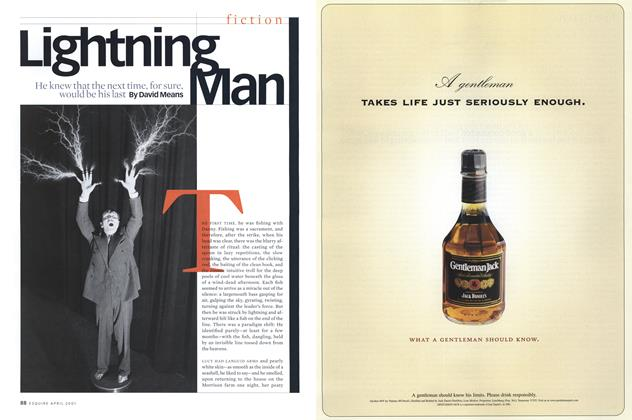 Article Preview: Lightning Man, April 2001 | Esquire