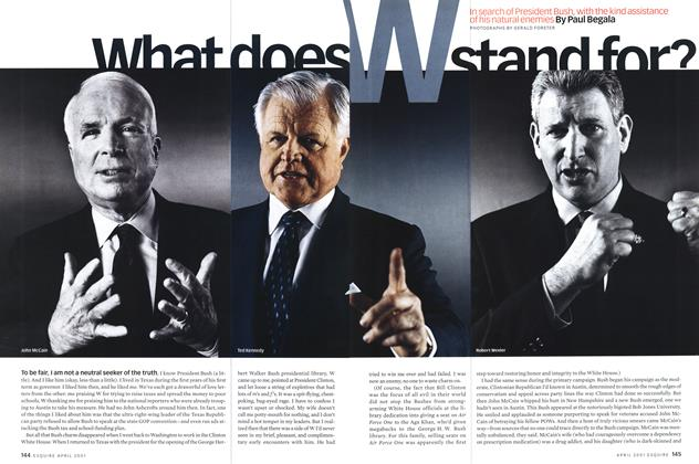Article Preview: What Does W Stand For?, April 2001 | Esquire
