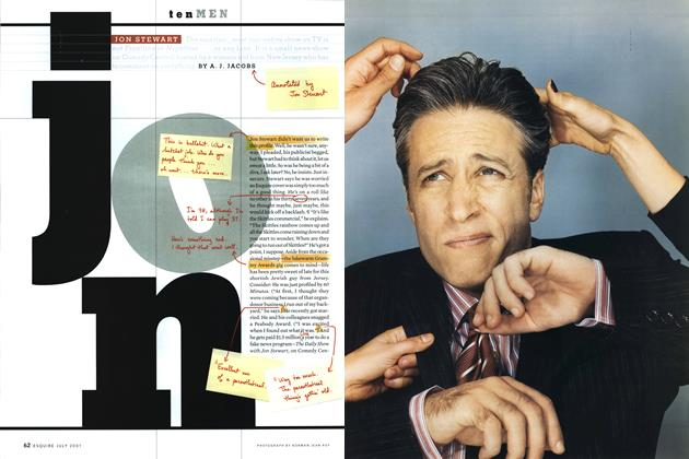 Article Preview: Jon Stewart, July 2001 2001 | Esquire