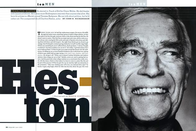 Article Preview: Charlton Heston, July 2001 2001 | Esquire